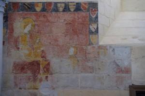 Vierge à l'énfant et donateurs. Prinçay, église Saint-Gervais-et-Protais