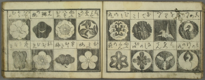Pages from a modern Japanese armorial (source: Waseda University Library)
