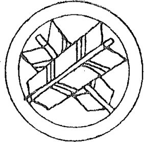 Maru ni chigai-ya. Two crossed arrows in a circle. Image taken from Lange,