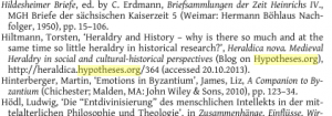 Werden Blogs doch zitiert? Abbildung:  Steckel/Gaul/Grünbart (Hg.), Networks of Learning: Perspectives on Scholars in Byzantine East and Latin ..., Münster 2014, S. 310.