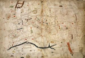 Portolan des Angelino Dulcert (WikiCommons)