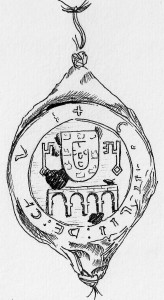 Drawing of the seal of Chaves (1308).