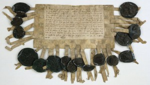 Archives nationales, AE II 231, Barons versus P. Mauclerc.