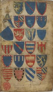 Paris, BnF, ms. fr. 5230, f.1r (Bellenville armorial)