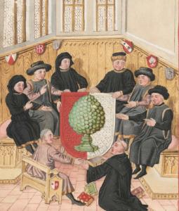 Sigismundus Meisterlin, Cronographia Augustensium, Staats- und Stadtbibliothek Augsburg 2 Cod H 1 (Cim 69), Augsburg 1457, f. IVv.