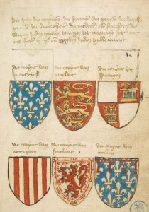 "Armorial ""Beyeren"", after 1400, KB, Koninklijke Bibliotheek, The Hague (Low Countries)."