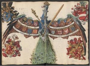 Wappenpfau Mennel Cod. 3075 fol. 12. 13v