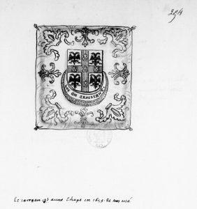 Paris, BNF, Ms. Clairambault 1309, fol. 249r.