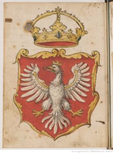 Bnf, Recueil d'armoiries polonaises, fol 1v.
