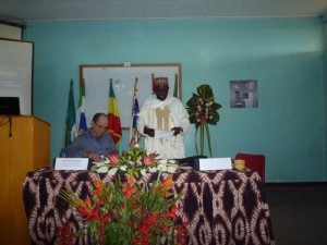 The Imam of Buea addressing the conference participants. Chair: Guy Thomas.