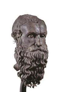 Testa maschile in bronzo c.d. del filosofo da Porticello, bronzo – Museo Archeologico Nazionale di Reggio Calabria