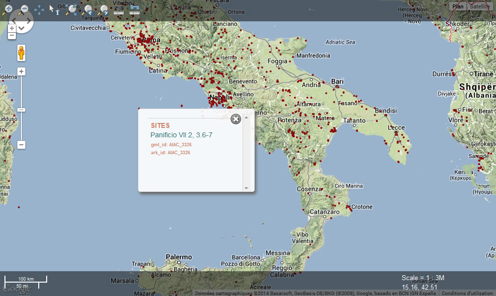 Fasti online map