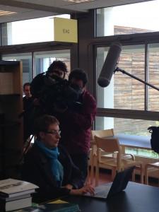 Josie Bernicot durant son interview avec France 3 Poitou-Charentes