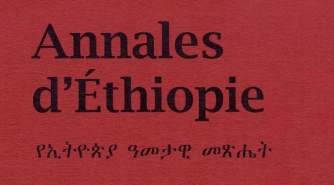 Annales d'Éthiopie, n° 27, 2012