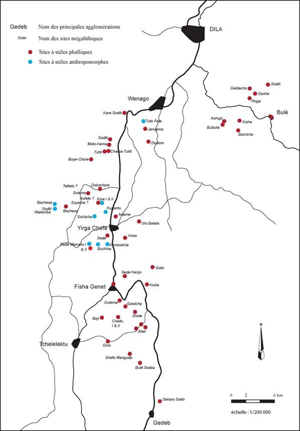 Fig. 4. Répartition des sites mégalithiques / Repartition map of megalithic sites (A.-L. Goujon)