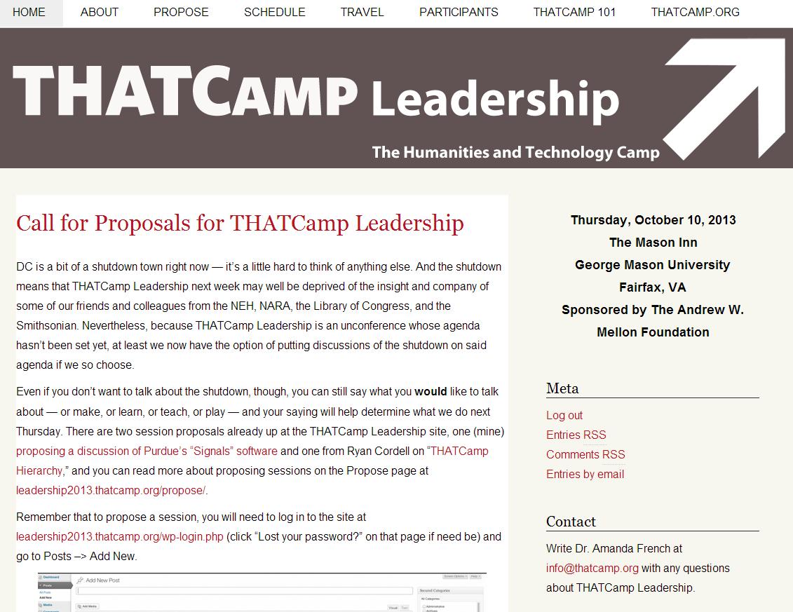 THATCamp Leadership 2013