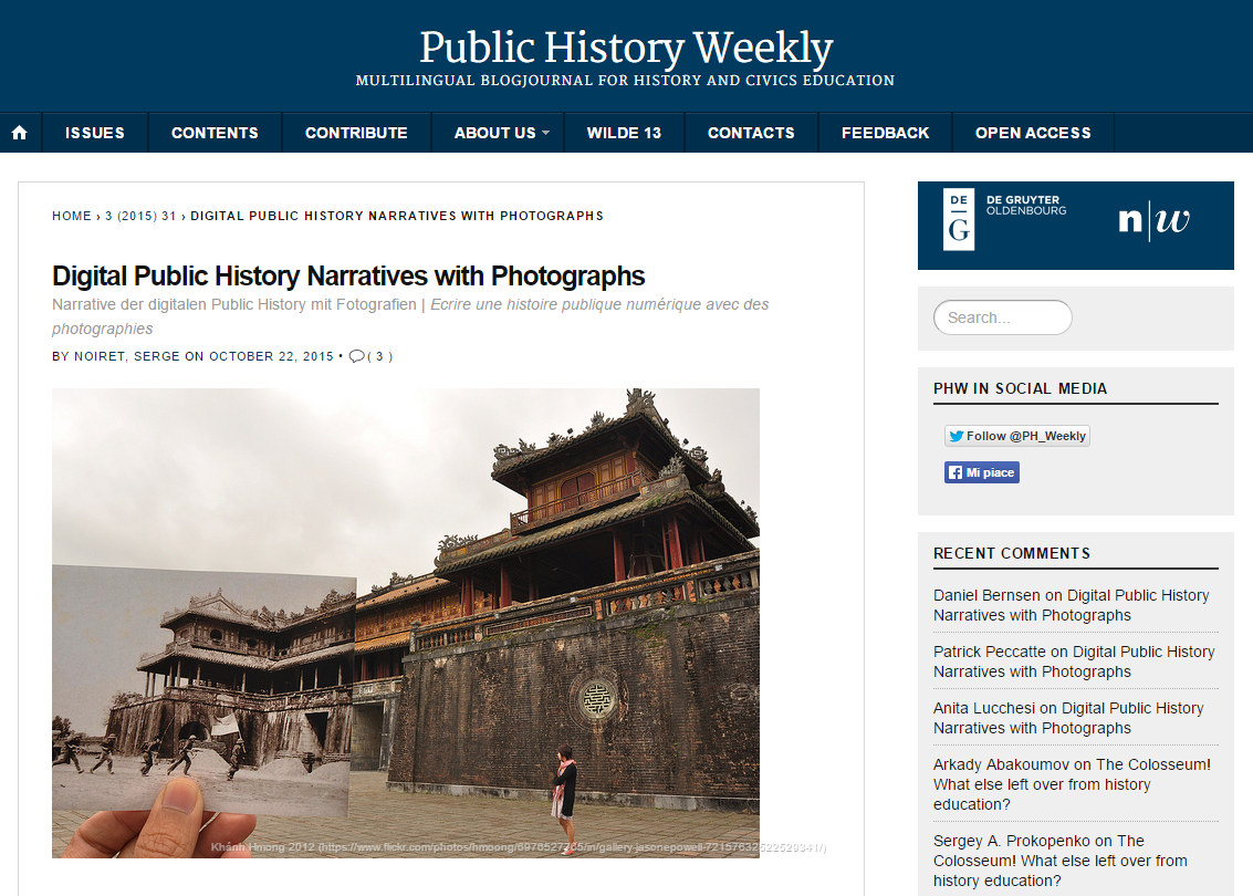 Public History Weekly - Digital public history with photographs  - 2015
