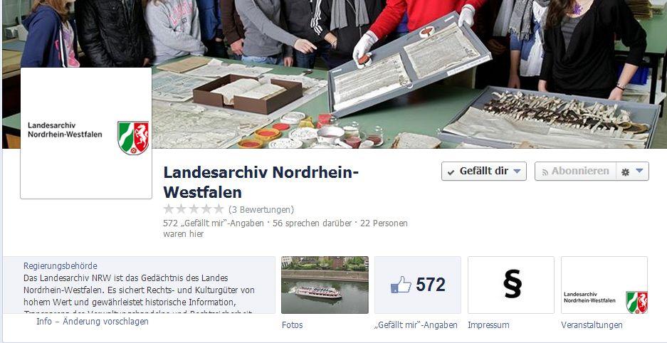Landesarchiv NRW Facebook