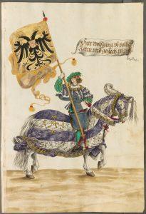 Hans Burgkmair d.J.: Turnierbuch. Augsburg, um 1540. Bayerische Staatsbibliothek München, Cod.icon. 403