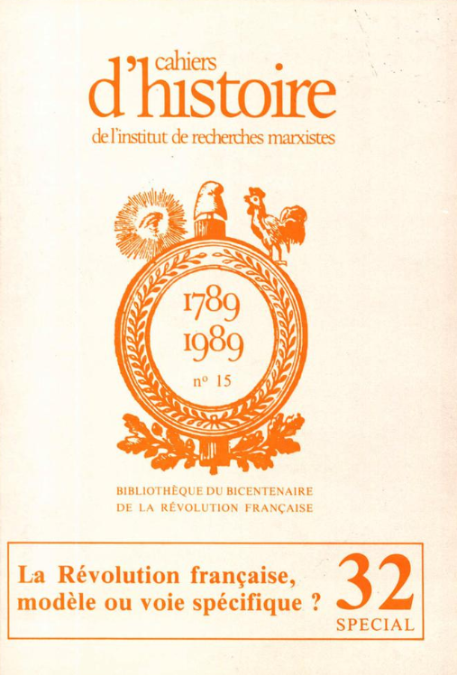 Cahier d'histoire-32-1988