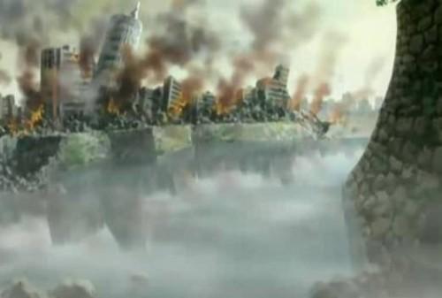 Code Geass 01 - Destruction de la ville japonaise