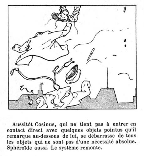 """L'idée fixe du savant Cosinus, IXe chant, « Un habitant dans la lune », Christophe. Source : site """"Töpfferiana""""."""
