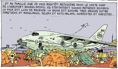 Didier Kassaï, 2014, Bangui, terreur en Centrafrique,extrait de la planche 18, épisode 4.