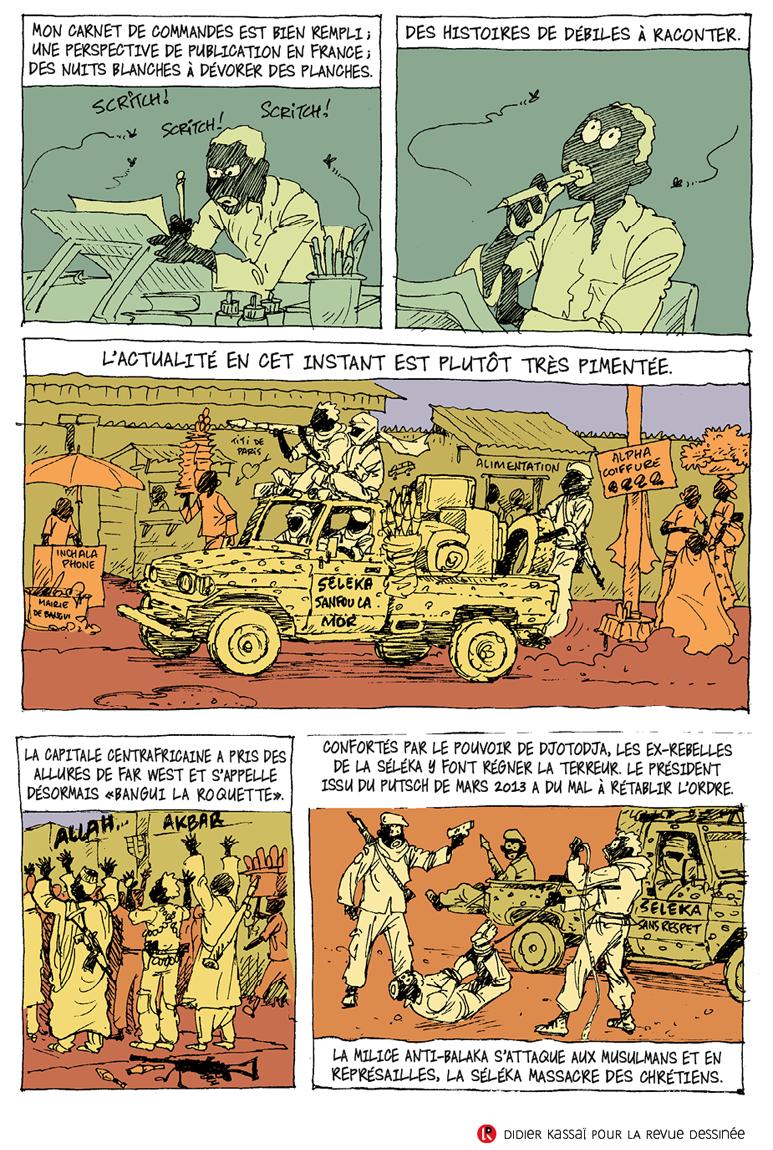 Didier Kassaï, 2014, Bangui, terreur en Centrafrique,planche 2, épisode 1.
