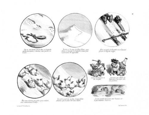 Gustave Doré, Dés-agréments d'un voyage d'agrément, 1851.