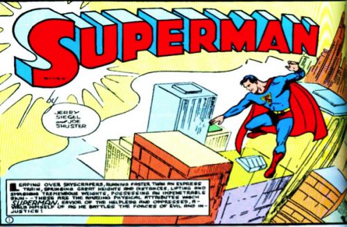 Source : Jerry Siegel et Joe Shuster, Superman.