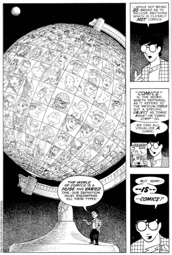 Scott McCloud, 1999, L'art invisible : comprendre la bande dessinée, Vertige Graphic.