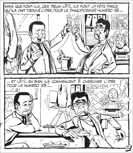 Goscinny (texte), Gotlib (dessin) Les Dingodossiers : les idées Extrait de la planche 52 parue dans Pilote no 350, 7 juillet 1966 Les Dingodossiers, tome 3 (p. 49) © Dargaud / © Marcel Gotlib