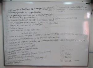 Una lista de temas elegidos para la discusión (C. Hattemer, 2014)