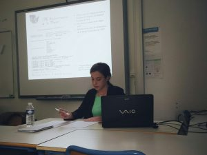 Begoña Barrera durante el seminario
