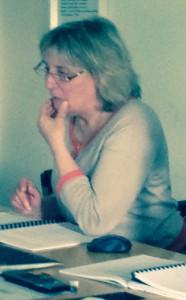Sylvie Garçon soutenant son mémoire de Master