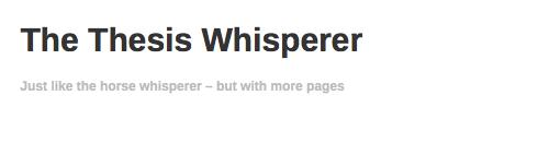Thesis Whisperer