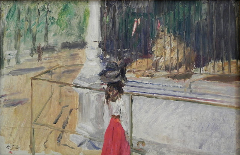 girl-in-front-of-the-lion-cage-1901