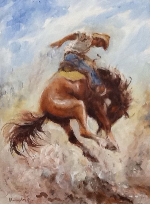 ron-edwards-exhibition-man-on-bucking-horse