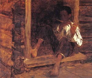 Eastman Johnson (American painter, 1824-1906) Negro Boy 1860