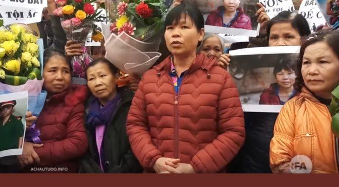 """Bà Cấn Thị Thêu """"Tiếp tục đấu tranh giành lại đất đai đã bị cướp"""" [RFA]"""