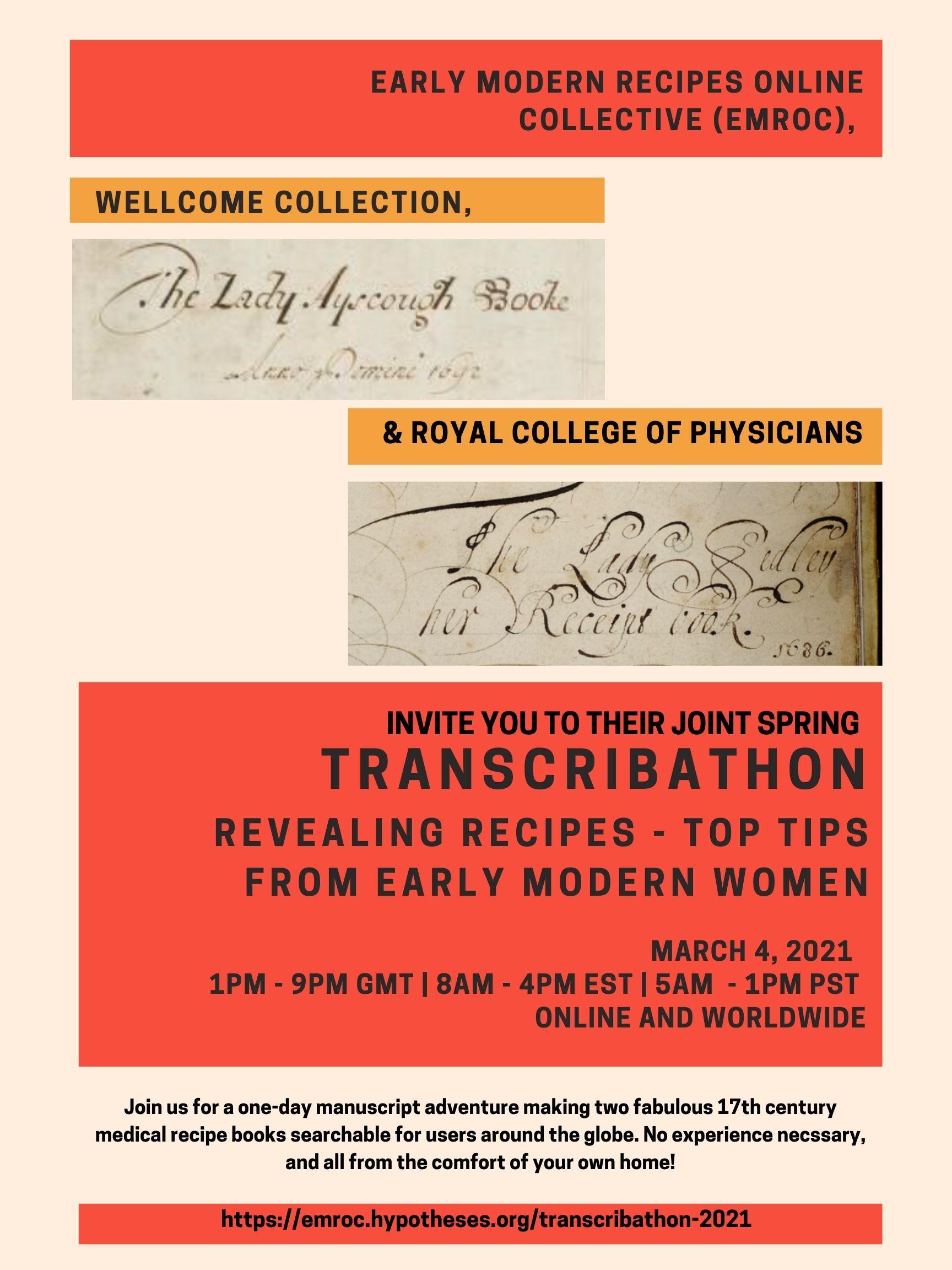 Transcribathon Instructions Glossaries And More Emroc