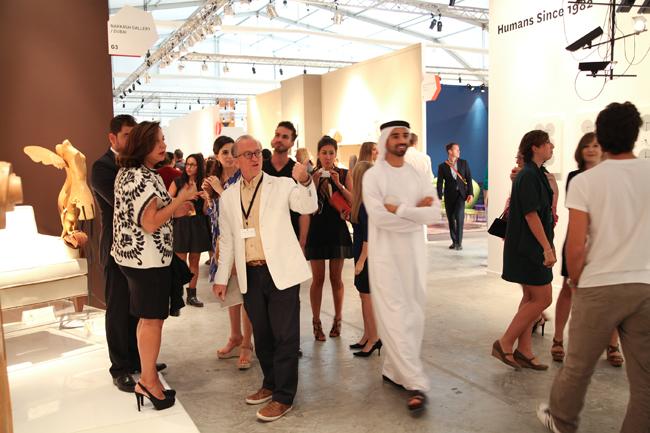 Guests visit Design Days Dubai 2013.