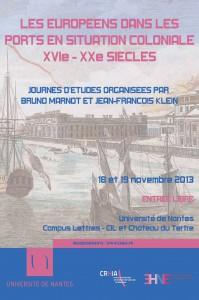 Journées d'études : Les Européens dans les ports en situation coloniale (XVIe – XXe siècles)