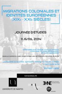 Journée d'études «Migrations coloniales et identités européennes (XIXe-XXIe siècles)»