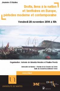 Droits, liens à la nation et territoires en Europe, périodes moderne et contemporaine