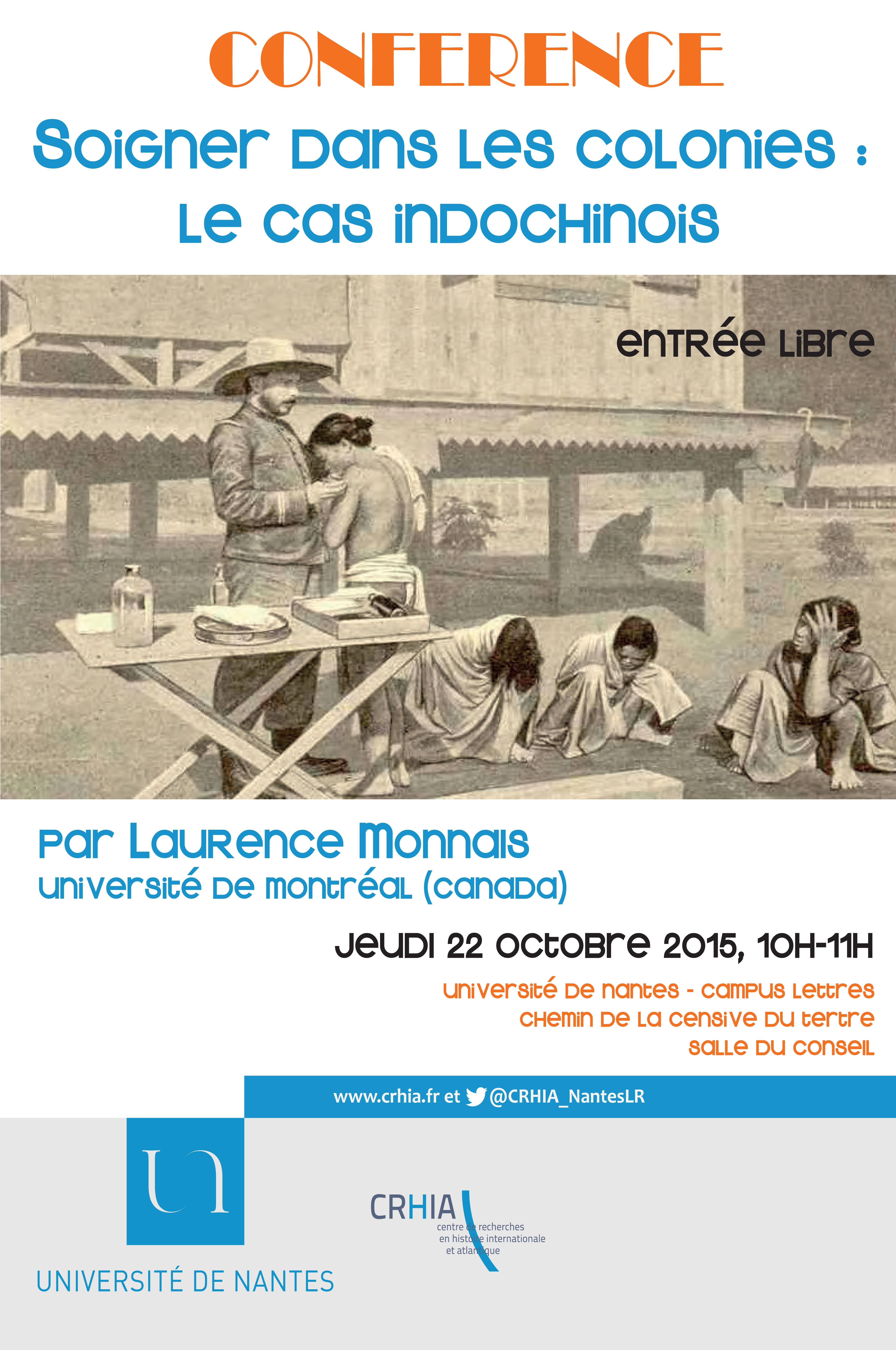 Conférence de Laurence Monnais : Soigner dans les colonies, le cas indochinois