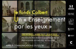 Appel à communications « Autour du fonds Colbert : «L'Enseignement par les yeux» ou la pédagogie par la projection photographique en milieu scolaire »