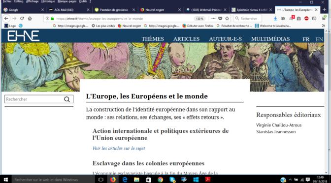 A partir du 1er novembre 2018, L'encyclopédie numérique EHNE fait peau neuve!