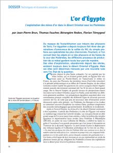 Première page de l'article paru en juin 2013