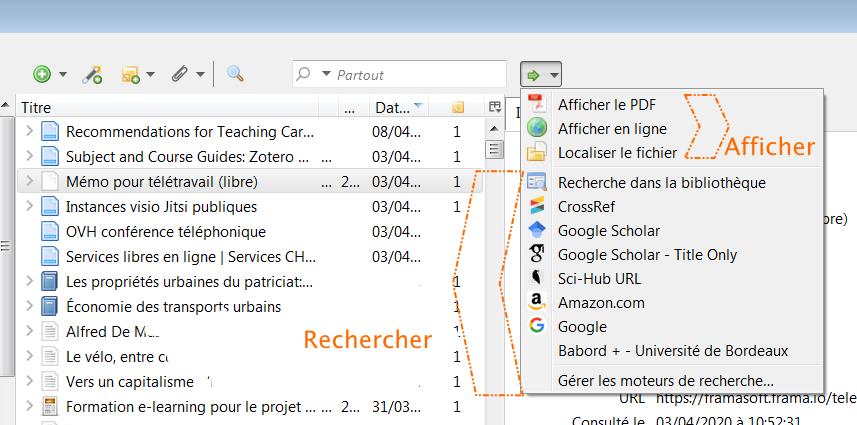 Les Moteurs De Recherche Integres A Zotero Le Blog Zotero Francophone
